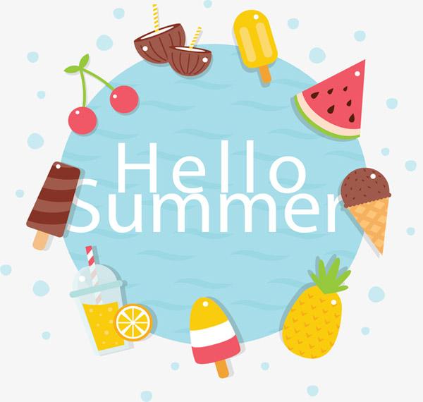 夏日冰爽美食边框