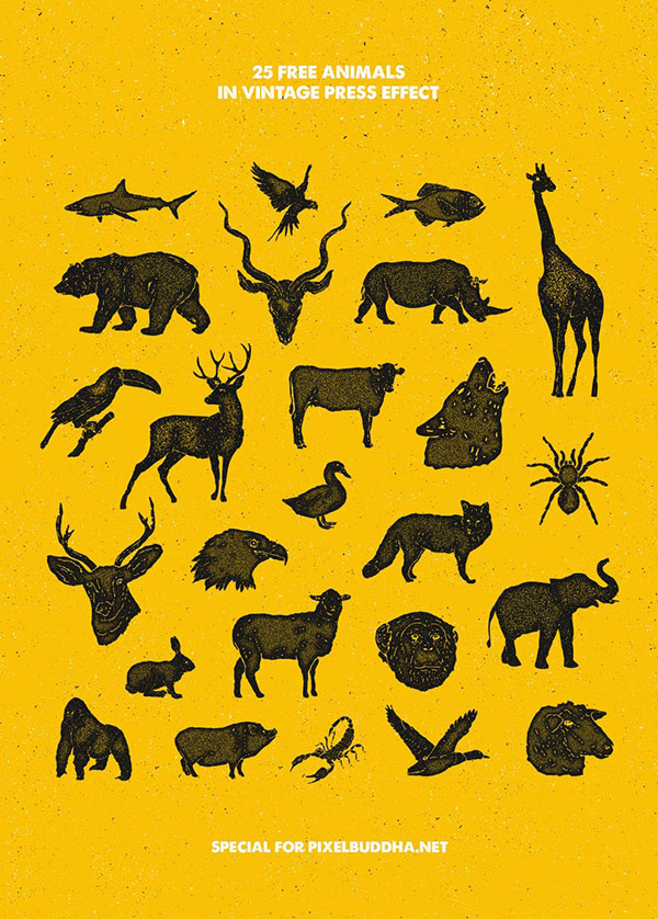 手绘抽象动物图像