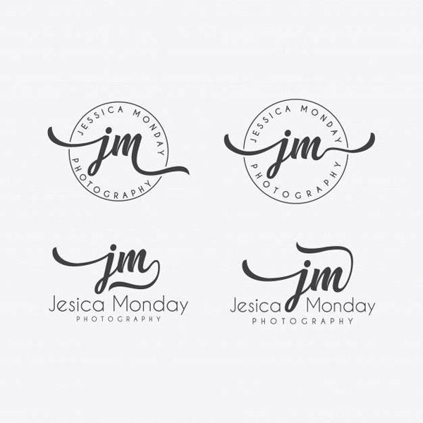 手写字母logo