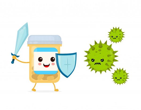 病毒防护矢量插画