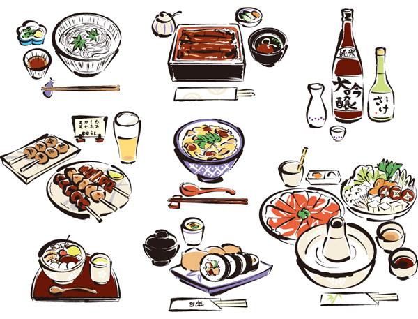 日本料理矢量2