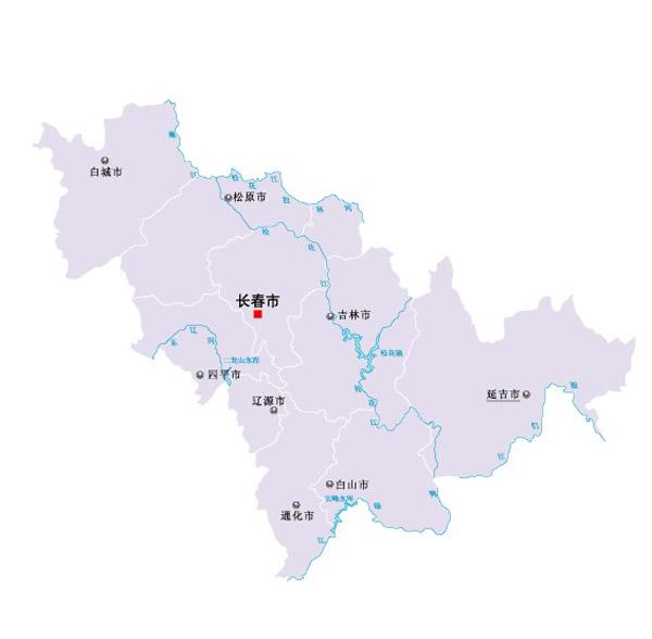 吉林省矢量地图