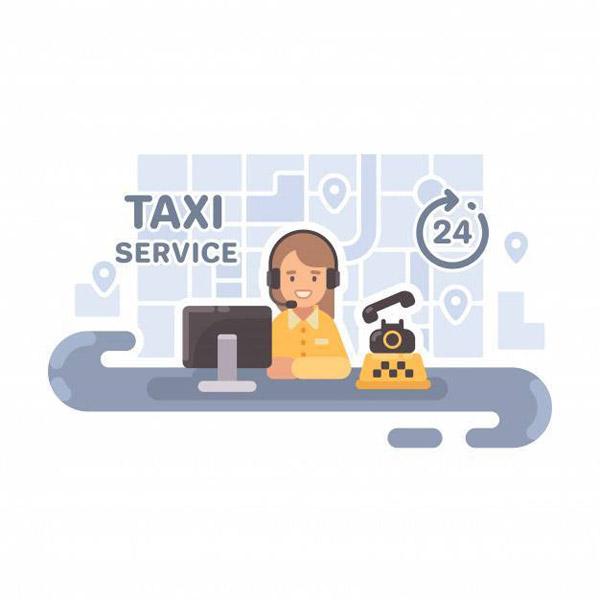 出租车调度员插画