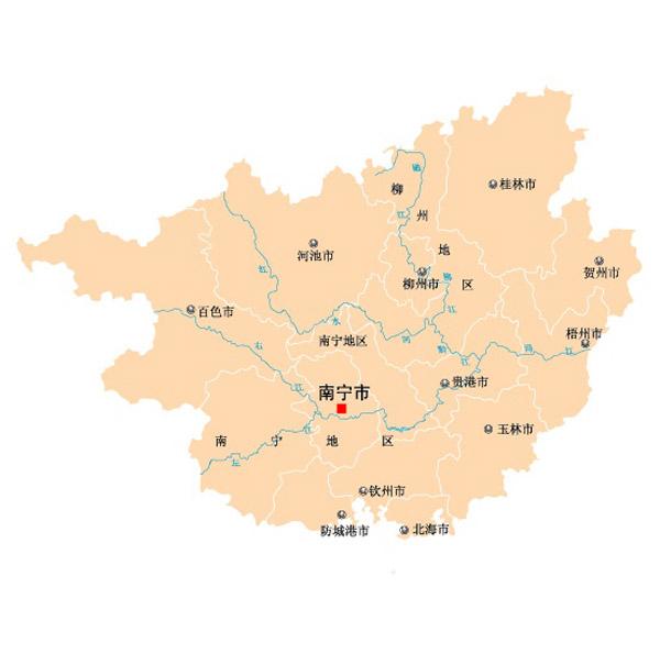 广西省矢量地图