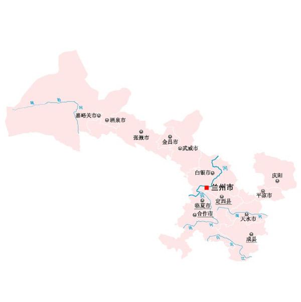 甘肃省矢量地图