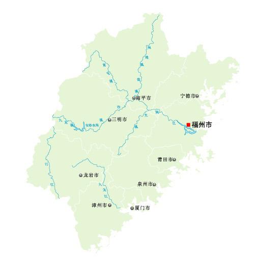 福建省矢量地图