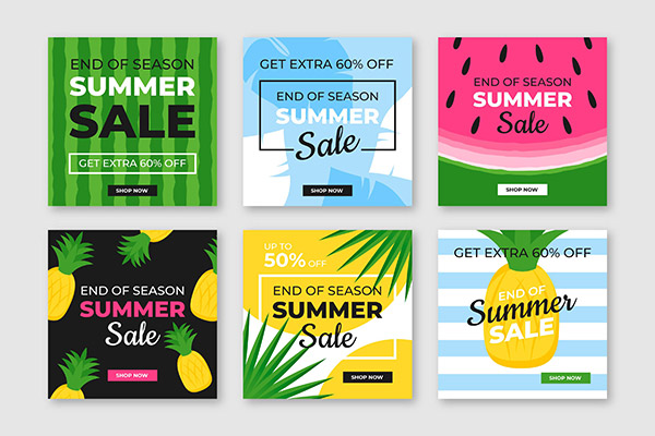 夏季促销广告海报