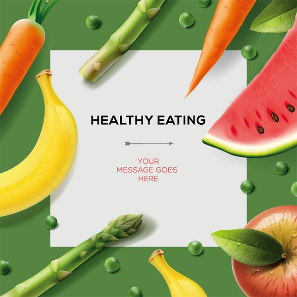 健康饮食广告模板