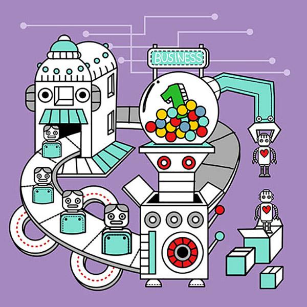 卡通机械化流程图