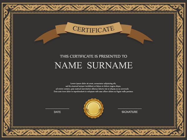 认证和证书模板