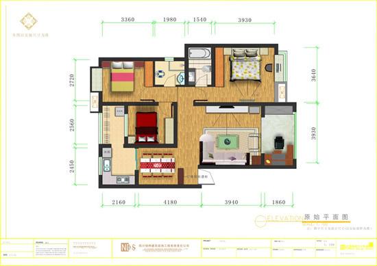 家居平面图_矢量室内空间