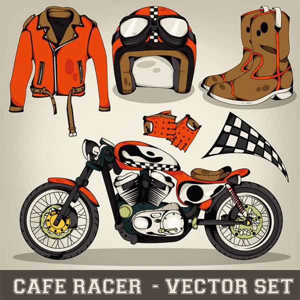摩托车运动元素