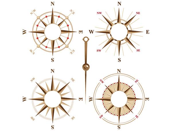 指南针矢量素材