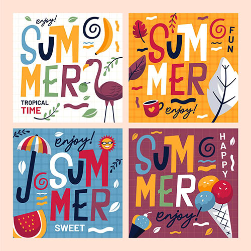 夏季涂鸦元素