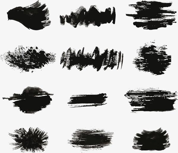 中国风水墨涂鸦笔刷