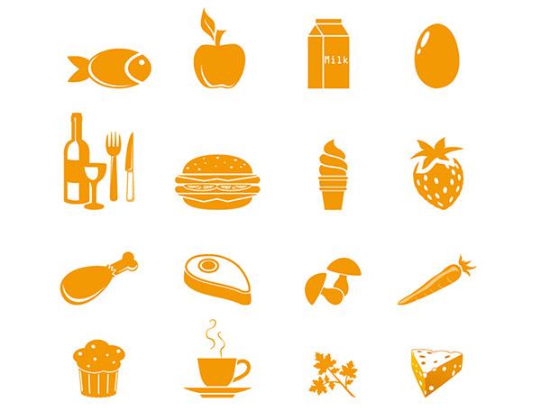 简约风格食品图标