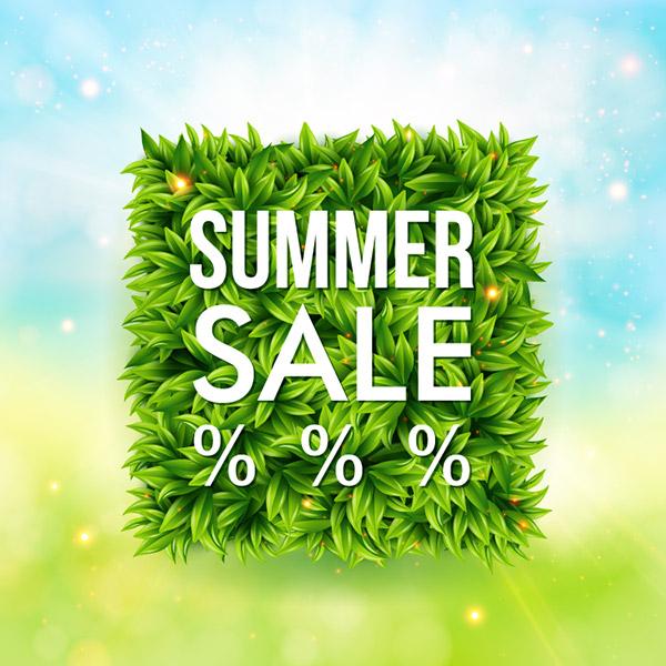 夏季促销折扣海报