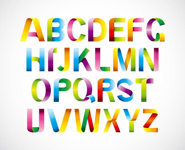 彩虹折叠字母