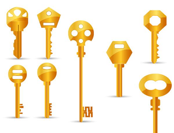 8把金钥匙矢量
