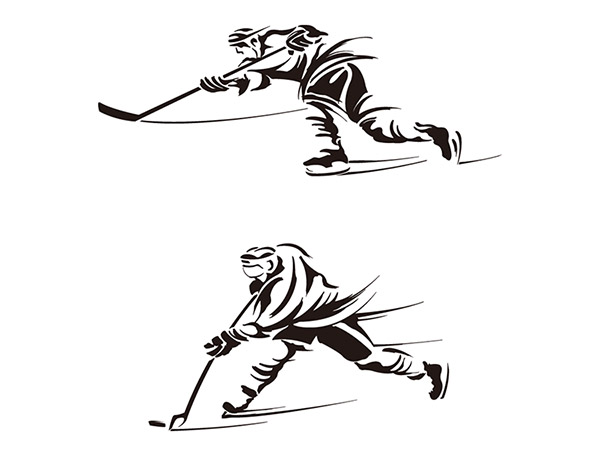 冰球运动员矢量