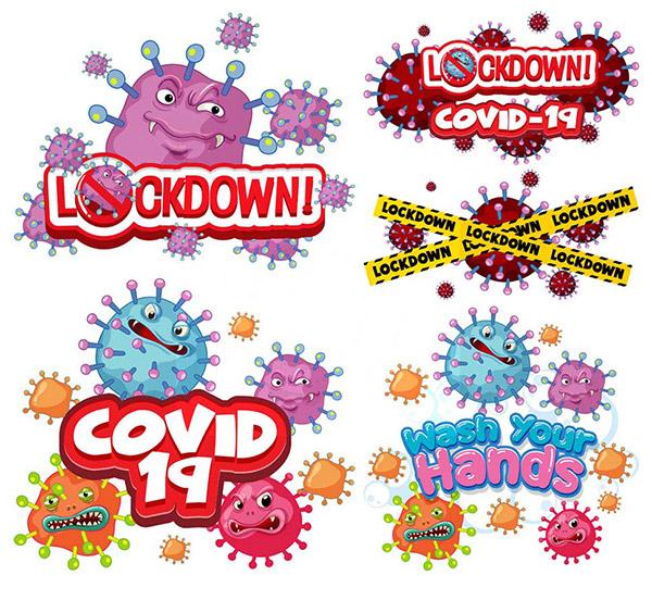 卡通新冠病毒