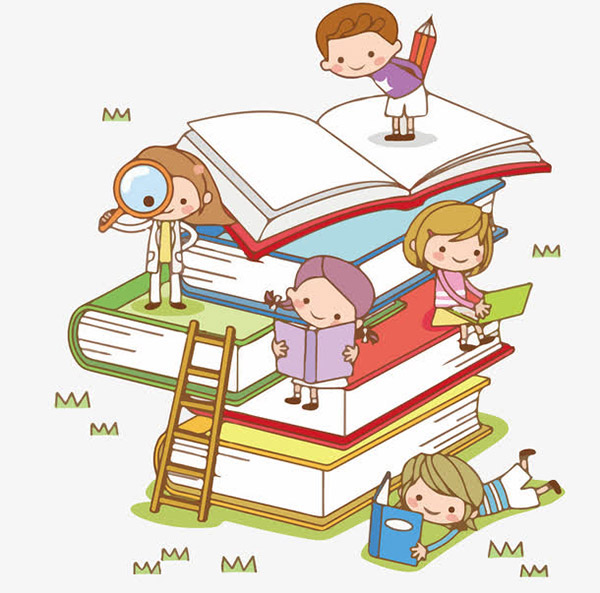 卡通小孩学生