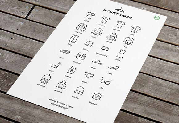 素材分类: 矢量各式图标所需点数: 0 点 关键词: 24衣服图标,衣服,鞋