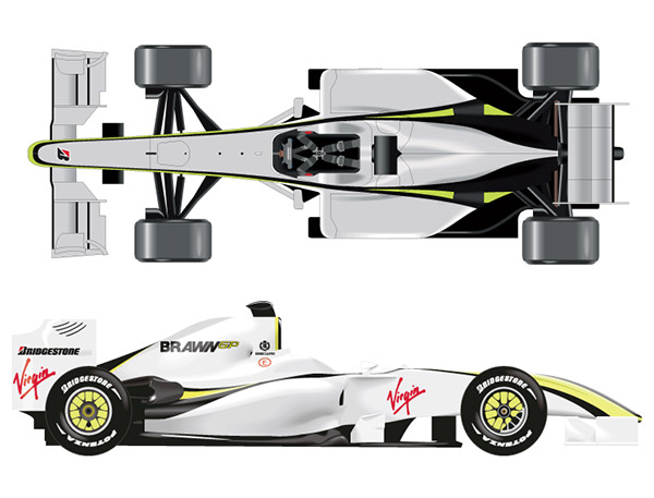 F1方程式赛车矢量