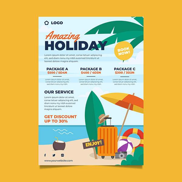 旅行销售宣传单