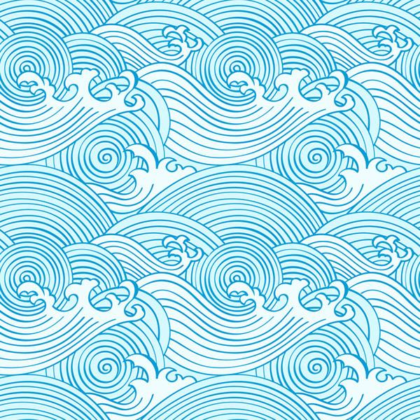 波浪纹理矢量背景