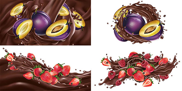 巧克力水果矢量