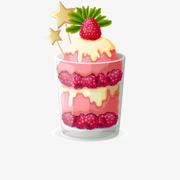 美味草莓冰淇淋