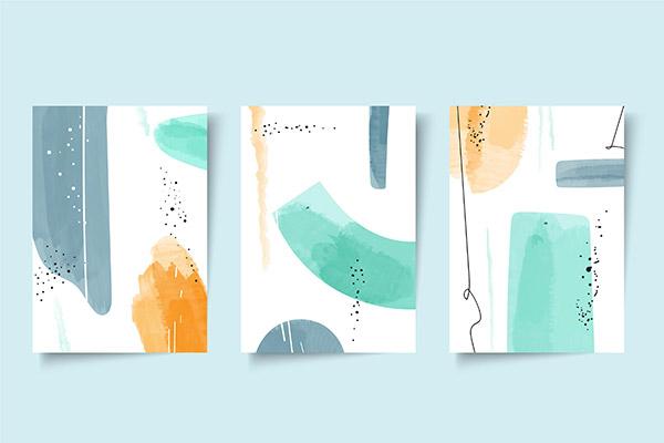 抽象水彩画背景