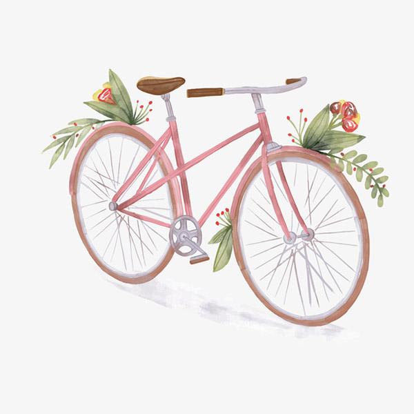 彩绘粉色单车