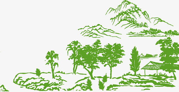 绿色矢量村庄