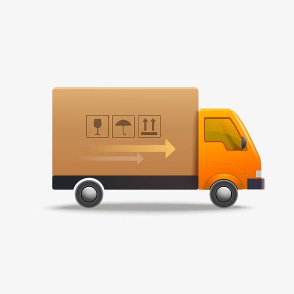 卡通物流运输货车