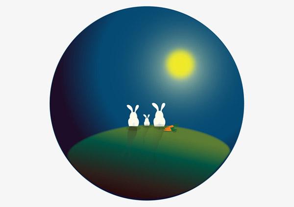 赏月月兔装饰图案