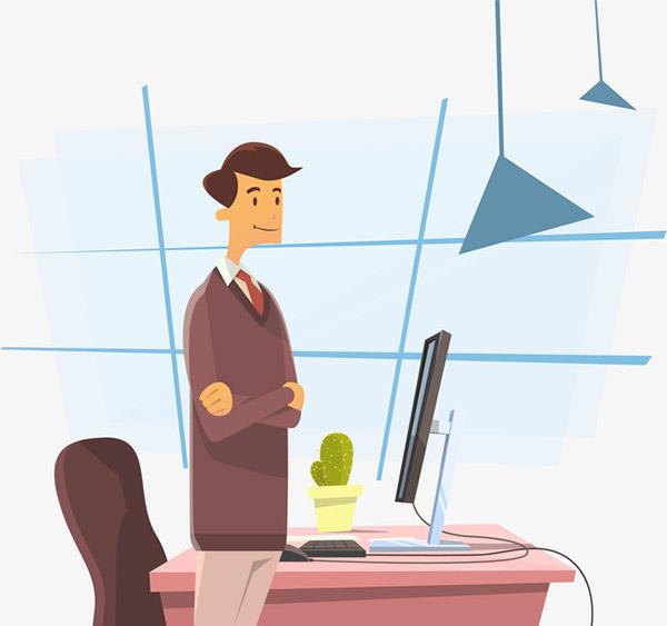 商务办公场景插画