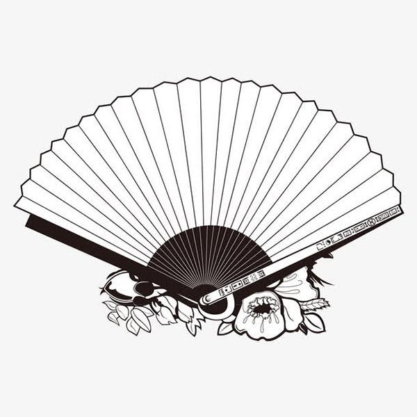 中国风空白折扇