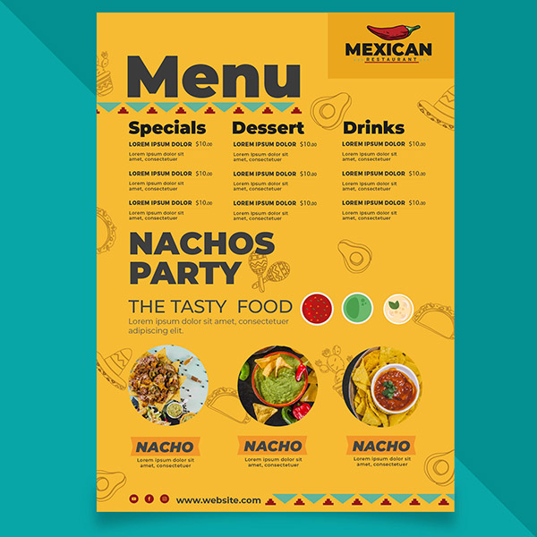 墨西哥餐厅菜单