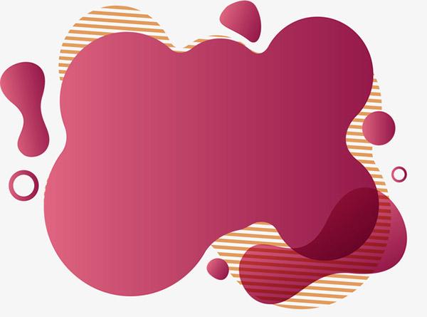 棕红色流体标题框