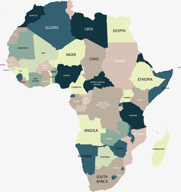 非洲拼图地图