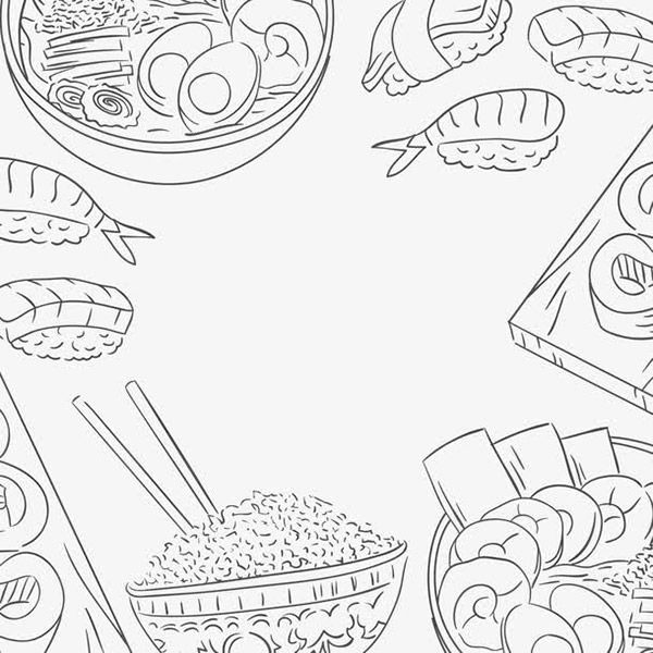 手绘日本美食插画