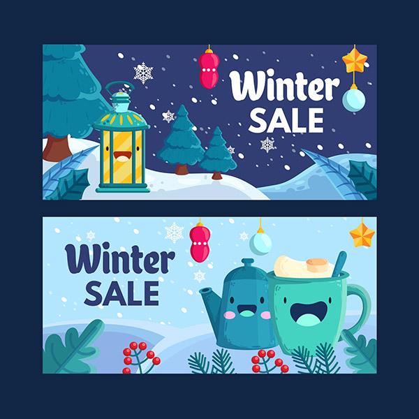冬季销售横幅