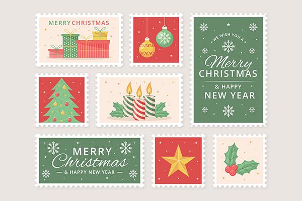 圣诞节邮票套装