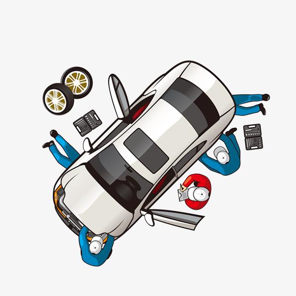 手绘维修汽车