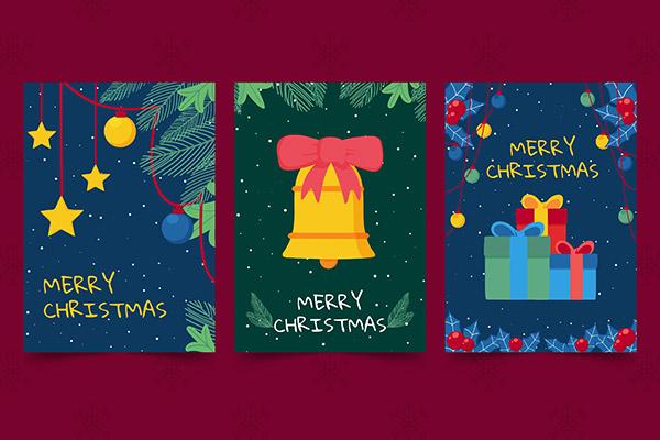 手绘圣诞卡矢量