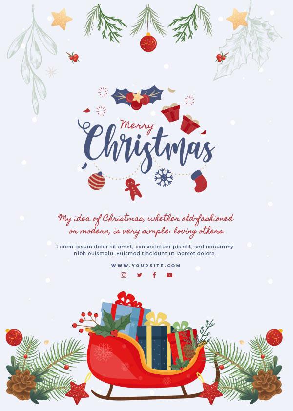 圣诞节矢量海报