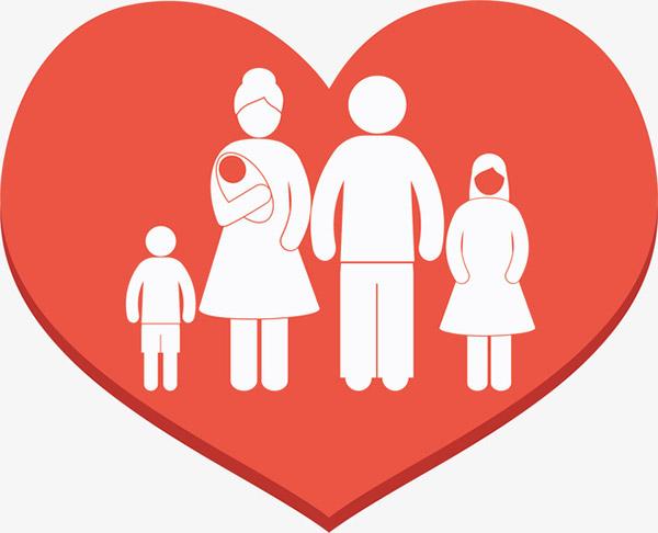 爱心里的一家人