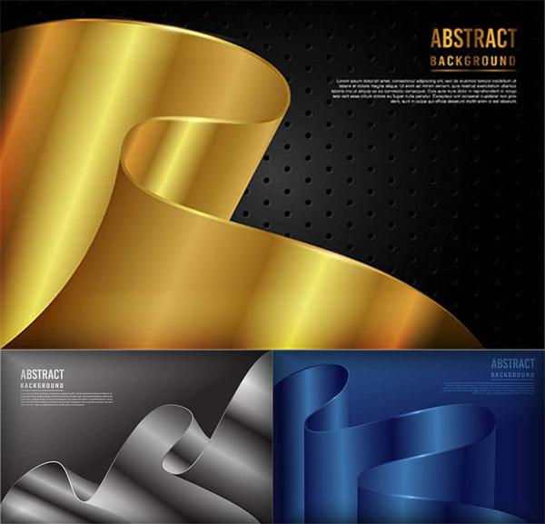 弯曲折叠样式抽象背景